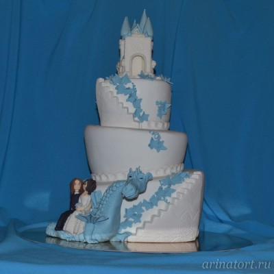Свадебный торт замок любви фото